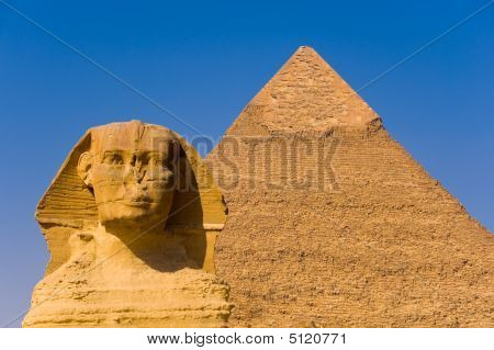 The Sphinx And The Great Pyramid