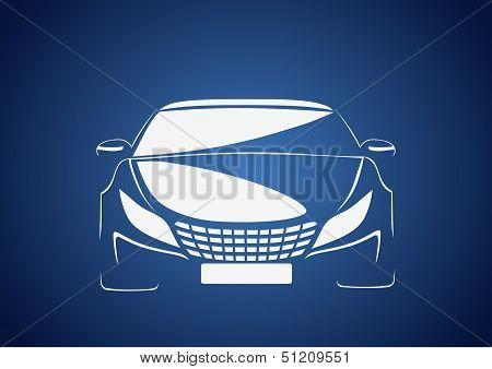 Auto in blue