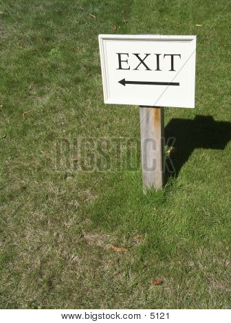 Exit (with Space For Text)