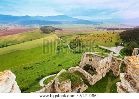 Panorama Of Spis Castle Ruins