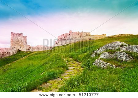 Lower Yard Of Spis Castle Ruins