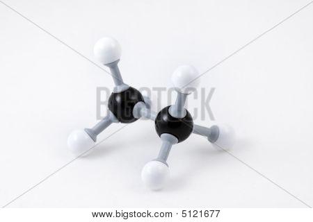 Ethane Molecule Structure (c2H4)