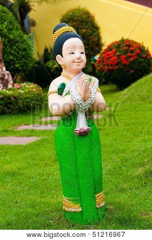 Thai ceramic doll