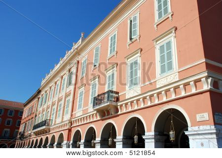 Historical buildings in the cit of Nice (France) poster