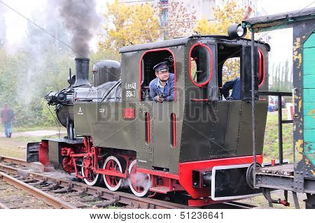 Steam Train In Poland