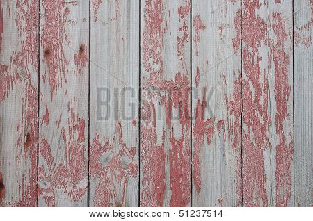 Damaged Red Wood Texture
