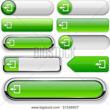 Logout green design elements for website or app. Vector eps10.