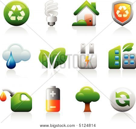 Titanium green eco icons