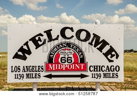 Midpoint Of Route 66