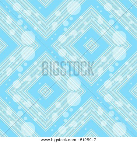 Abstract blue pattern with translucent circles and square (vector) poster