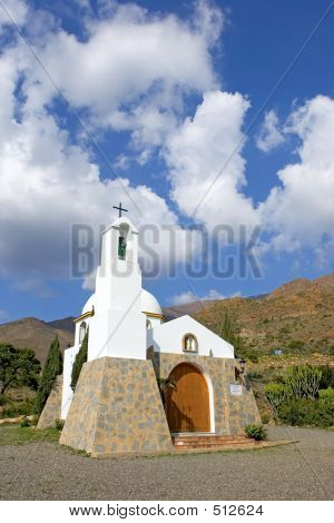 Small Spanish Catholic Church In The Mountains