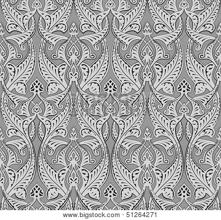 poster of Illustration of seamlessly tiling repeat art nouveau background pattern
