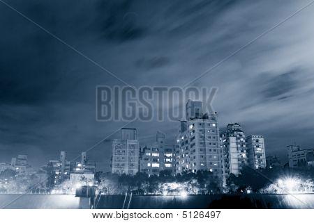 Night Scenes Of Apartment