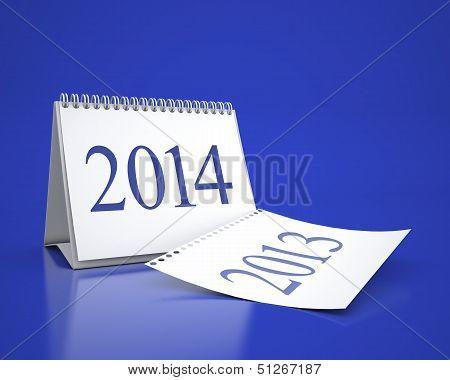 New Year 2014 Calendar