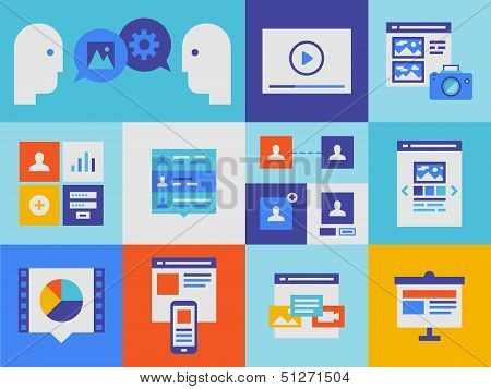 Web Presentation And Interface Icons