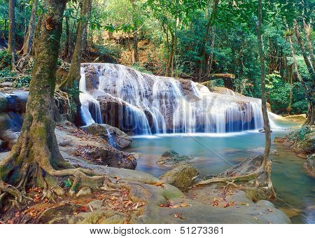 Thailand Jungle Waterfall