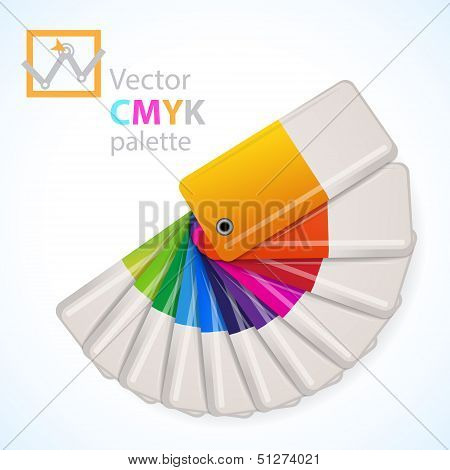 Color palette icon. Vector illustration. This is file of EPS10 format. poster