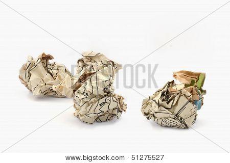 Crumpled Piece Paper