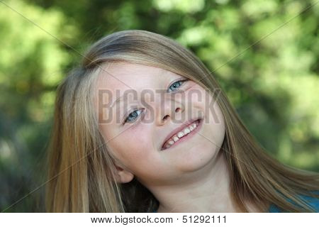 A Smiling Young Girl