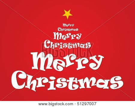Abstract Merry Christmas Text