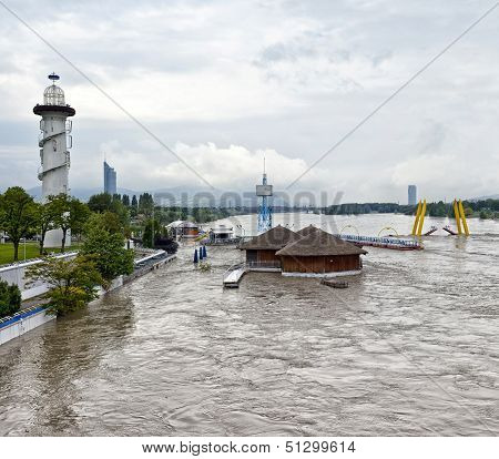 Flood Disaster Danube Vienna 2013