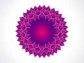 abstract purple detailed crown chakra vector illustration poster