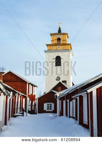 Church town, world heritage site in Sweden