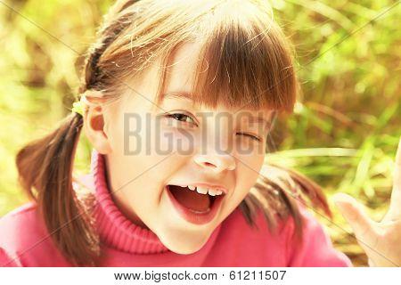Portrait of cheerful girl
