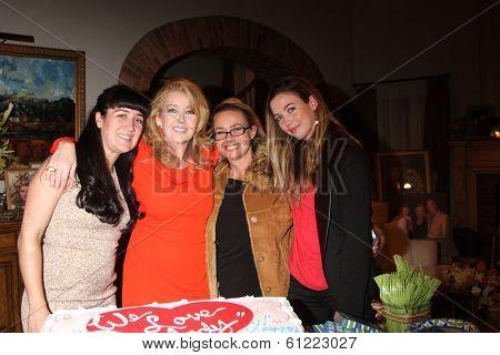 LOS ANGELES - MAR 4: Alexandra Yeaggy, Melody T Scott, Jennifer Scott Christensen, Elizabeth Scott as Melody Thomas Scott Celebrates 35 yrs at YnR at CBS TV City on March 4, 2014 in Los Angeles, CA