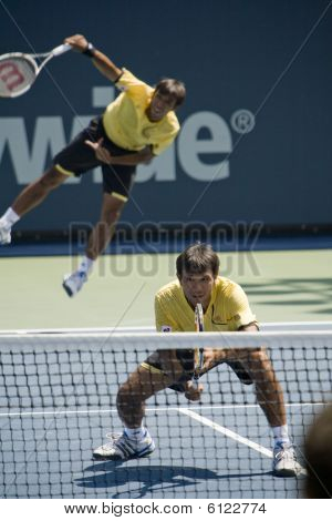 Ratiwatanas at the Los Angeles Open Tennis Tournament