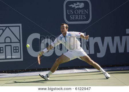 Radek Stepanek at the Los Angeles Tennis Open