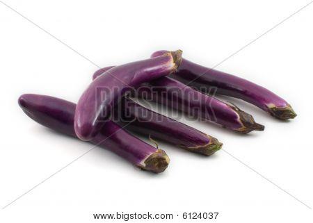 Aubergine/ Eggplant Isolated On White Background