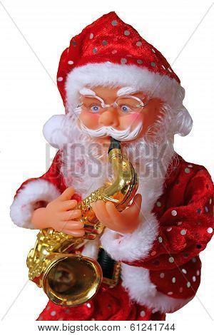 Santa Claus with saxophone