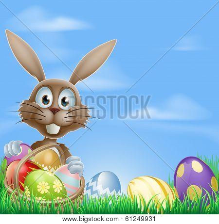 Easter Bunny And Chocolate Eggs