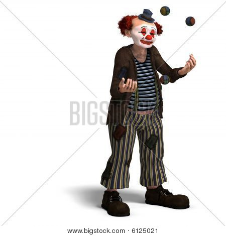 Funny Circus Clown mit Menge Emotionen