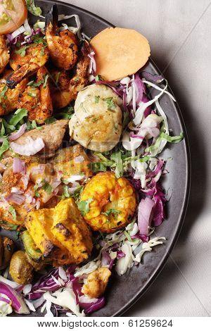 Barbecue Kebab Platter