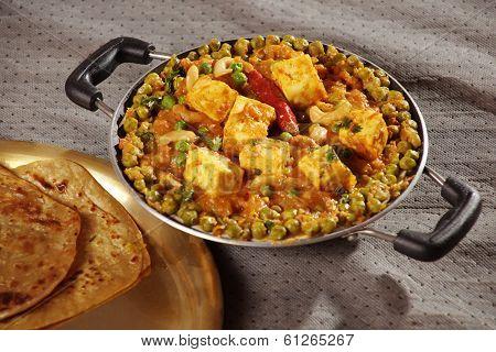 Mattar Paneer - A vegetarian dish from Punjab