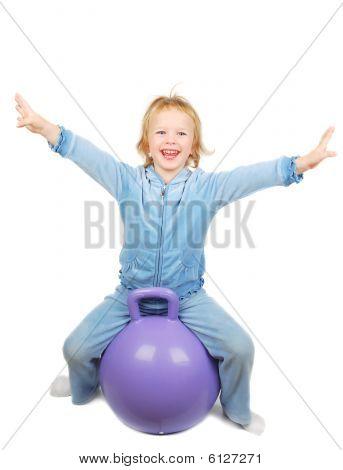 Girl And Fitness Ball
