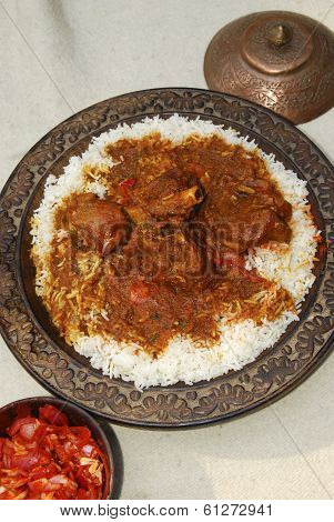 Rogan josh with rice from India