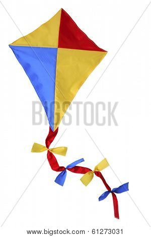 children's toy kite on white