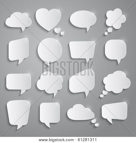 Set Of Speech Bubbles