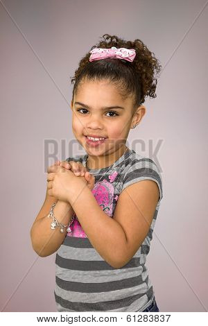 Biracial little girl