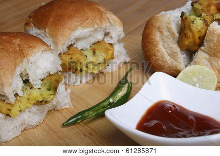 Vada Pav - A street snack from Bombay