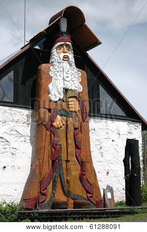 JIRIKOV, CZECH REPUBLIC  MAY 2006 - The big woodcarving decoration