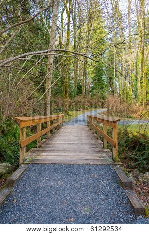 Fragment of Malcolm Lowry Trail trail in Cates Park, Vancouver, Canada