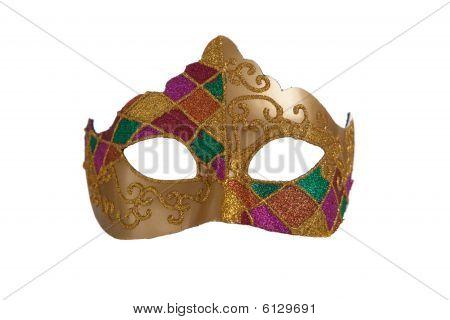 Gold Mardi Gras Mask