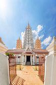 Wat Yan Buddhist Temple in Pattaya Chonburi province Thailand poster