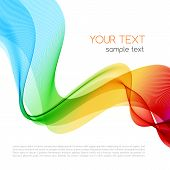 Abstract colorful background. Spectrum wave. Vector illustration poster