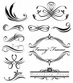 A group of fancy swirls page spacers poster
