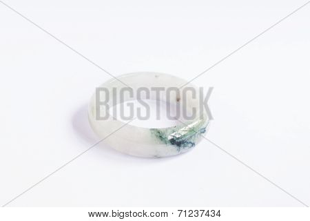 The Luxurious jade bracelet on isolated white background. poster